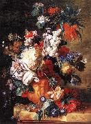 HUYSUM, Jan van Bouquet of Flowers in an Urn sf oil painting artist